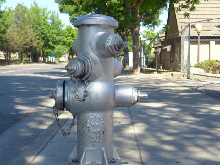 silver-fire-hydrant