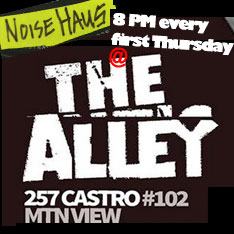 NoiseHaus 8PM every 1st Thursday @ The Alley